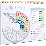 Lamare Habit Tracker Calendar - Inspirational Habit Tracking Journal with Spiral Binding - Beautiful Habit Tracker and Goal P