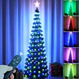 Epartswide Christmas Tree Artificial Christmas Tree with Lights Pop-Up Prelit Christmas Tree Collapsible 6FT Pencil Christmas