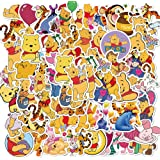 Winnie The Pooh Stickers| 50pcs PVC Vinyl Waterproof Aesthetic Cute Bear Stickers (5-8 cm for Each) for Teen Boy and Girls to