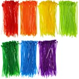Mini Skater 0314 Assorted Cable Ties 700-Piece (6 inch Colored)