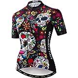 JPOJPO Womens Cycling Jersey, Mountain Bike Jersey Women Shirt Tops S-2XL - Four Fabric Made