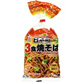 Japanese style noodle with Sauce (Kaigaiyo 3Shoku Yakisoba) 510g (3PC) 和風うどん(海老代3食焼そば)510g(3PC)