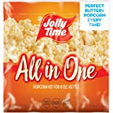 JOLLY TIME All in One Kit for 8 oz. Popcorn Machine   Portion Packet with Kernels, Oil and Salt for Commercial, Movie Theater