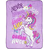 Jay Franco Nickelodeon JoJo Siwa Dream Unicorn Throw Blanket - Measures 46 x 60 inches, Kids Bedding - Fade Resistant Super S
