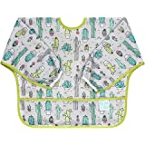Bumkins Sleeved Baby Toddler Bib|Waterproof, Washable, Stain and Odor Resistant, 6 to 24 Mths+, Cactus