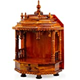 Nagina International Premium Hand Made Wooden Temple   Wooden Indian Mandir   Symbolic God House   Seat of God (Large Rosewoo