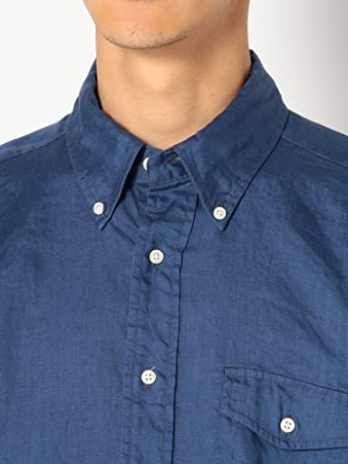 Linen Buttondown Shirt 111-10-0153: Blue