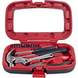 Household Hand Tools, Tool Set - 15 Piece by Stalwart, Set Includes – Hammer, Wrench, Screwdriver, Pliers (Tool Kit for the H