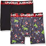 Under Armour Boys 2527H67018-01-PC 2 Pack Performance Boxer Briefs Boxer Briefs - Black