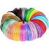 3D Pen/3D Printer Filament,1.75mm PLA Filament Pack of 24 Different Colors,High-Precision Diameter Filament, Each Color 10 Fe