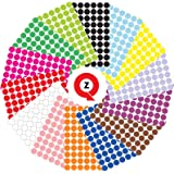 QuZi - Pack of 3920 Round Dot Stickers in 14 Colors for Labeling Size 3/4 Inch (Multicolor)