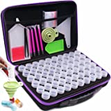 ARTDOT Diamond Painting Storage Containers, 60 Slots Diamond Painting Accessories Shockproof Jars for Jewelry Beads Rings Cha