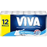 Viva Paper Towel, White (Pack of 12),12 Rolls (60 Sheets Per Roll)