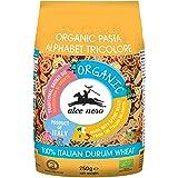 Alce Nero Organic Tricolore Alphabet Pasta | Kids Favourite | Authentic Italian Pasta Taste & Texture | Made Italian Durum Wh