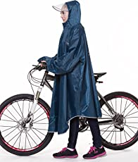 QIAN レインコート 自転車 バイク ロング ポンチョ 男女兼用 メンズ レディース 通勤通学 フリーサイズ 完全防水 高品質
