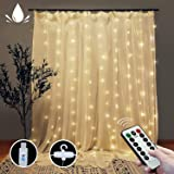 Curtain String Lights with Remote, LT 300 LEDs Window Curtain Fairy Lights 8 Modes 9.8ftx9.8ft USB Powered Fairy Lights for P