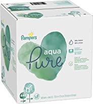 Baby Wipes, Pampers Aqua Pure Sensitive Water Baby Diaper Wipes, Hypoallergenic and Unscented, 8X Pop-Top Packs, 448 Total Wipes
