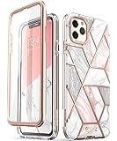 i-BLASON iPhone 11 Pro Max ケース 6.5インチ おしゃれ スマホケース 保護フィルム付き バンパー&ケースの二重構造 米国軍事規格取得 女性向け ワイヤレス充電 [Cosmo Series]