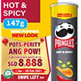 Pringles Galaxy Potato Chips, Hot and Spicy, 147g
