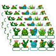 50 Cactus Name Tags Cactus Cutouts 10 Styles Nameplate for Classroom Bulletin Board Decorations, Educational and Learning Act