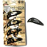 Tacticlip - 4 Pack - Tactical Hair Clips, Multitool Snap Barrettes - Multi-Functional Keychain Metal Multi Tool - Box Cutter,