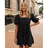 The Drop Women's Black Puff-Sleeve Mini Dress by @fashion_jackson