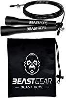 Speed Skipping Rope by Beast Gear – for Fitness, Conditioning & Fat Loss. Ideal for Crossfit, Boxing, MMA, HIIT,...