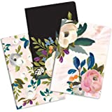 """Notebook Trio by Studio Oh! - Set of 3 - Bella Flora - 5.75"""" × 8.25"""" - 3 Coordinating Cardstock Cover Designs - 80 Lined Page"""