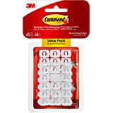 Command Decorating Clips, White, 40-Clips (17026-40ES), Decorate Damage-Free
