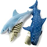 Boley Shark & Bones - 2 Pack Shark Toys for Boys and Girls - Blue Shark and Tiger Shark Toy Skeleton - Educational Playset fo