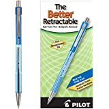 PILOT The Better Ball Point Pen Refillable & Retractable Ballpoint Pens, Medium Point, Blue Ink, 12 Count (30006)