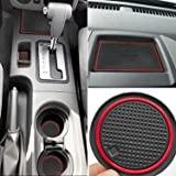 Auovo Anti Dust Mats for Nissan Frontier Crew Cab 2005-2019 Custom Fit Door Pocket Liners Cup Holder Pads Console Mats Access