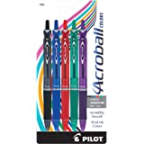 PILOT Acroball Colors Advanced Ink Refillable & Retractable Ball Point Pens, Medium Point, Black/Blue/Red/Green/Purple Inks,