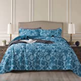 NEWLAKE Quilt Bedspread Sets-Geometric Contemporary Pattern Reversible Coverlet Set,Queen Size
