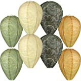 8 Pieces Wasp Nest Decoy Hanging Fake Wasp Nest Decoy Paper Wasp Deterrent Simulated Bee Hornets Nest for Home and Garden Out