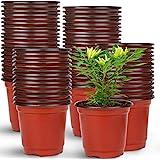 "Augshy 150 Pcs 4"" Plastic Plants Nursery Pot,Seed Starting Pots"