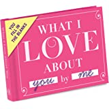Knock Knock 50061 What I Love about You Fill in the Love Book Fill-in-the-Blank Gift Journal (Fill-in-the-Blank Journal)