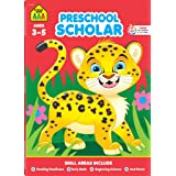 School Zone - Preschool Scholar Workbook - 64 Pages, Ages 3 to 5, Preschool to Kindergarten, Reading Readiness, Early Math, S