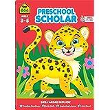 School Zone - Preschool Scholar Workbook - 64 Pages, Ages 3 to 5, Preschool to Kindergarten, Reading Readiness, Early Math, S