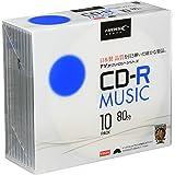 HI-DISC CD-R 音楽用 48倍速 80分 5mmSlim 10枚 【TYテクノロジー】 TYCR80YMP10SC