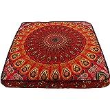mandala cushion cover, boho floor pillow, bohemian floor cushion, boho seating, Colorful Floor Pillow Cover Pouf Meditation C