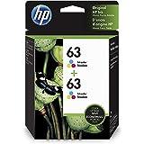HP 63   2 Ink Cartridges   Tri-color   F6U61AN, 1VV67AN#140