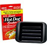 Rapid Hot Dog Cooker - Cook Perfect Hot Dogs in the Microwave in 2 Minutes or Less