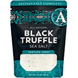 SaltWorks All Natural Black Truffle, Stay Fresh Pouch White Crystals and Brown Truffle Pieces, Sea Salt, 3.5 Oz
