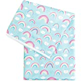 Bumkins Splat Mat, Waterproof, Washable for Floor or Table, Under Highchairs, Art, Crafts, Playtime 42x42, Rainbows