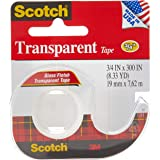 Scotch 157S Transparent Tape, 3/4 X 300 Inch