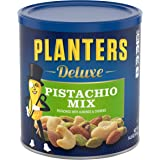 PLANTERS Deluxe Pistachio Mix, 14.5 Oz. Resealable Container - Variety Mixed Nuts with Pistachios, Almonds & Cashews - Sharea