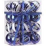 "Sea Team 60mm/2.36"" Delicate Painting & Glittering Shatterproof Christmas Ball Ornaments Decorative Hanging Christmas Ornamen"