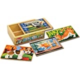 Melissa & Doug 3790 Pets 4-in-1 Wooden Jigsaw Puzzles in a Storage Box (48 pcs)
