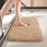 DEXI Bathroom Rug Mat, 24x16, Extra Soft and Absorbent Bath Rugs, Machine Wash Dry, Non-Slip Carpet Mat for Tub, Shower, and